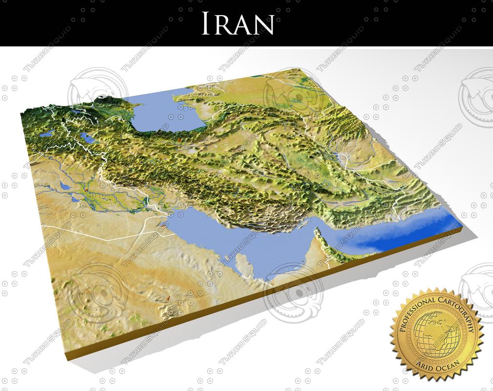 relief iran 3d max
