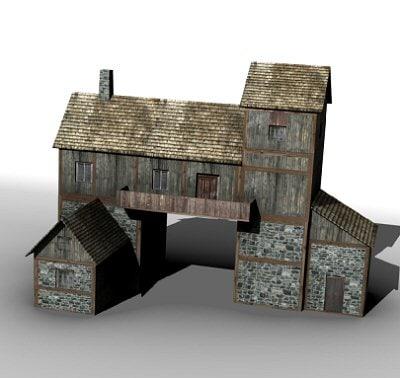 medieval gatehouse 3d model