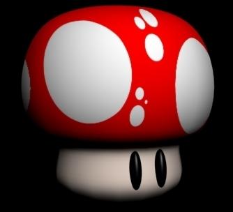 free mario mushroom 3d model