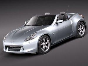nissan 370z roadster 370 3d model