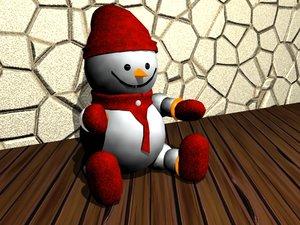 christmas decoration snowman 3d model