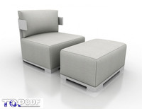 porada bea armchair 3d model