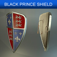 shield black prince 3d model
