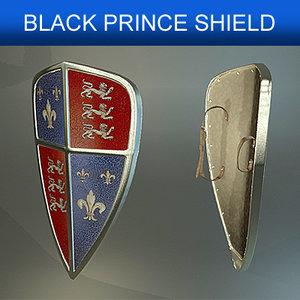 shield black prince 3d model
