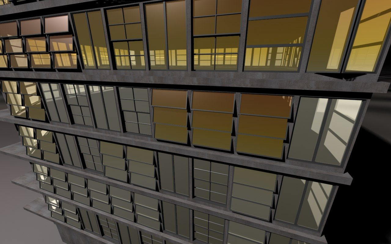 offices building 3d model
