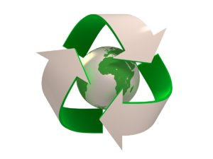 recycling logo 3d model