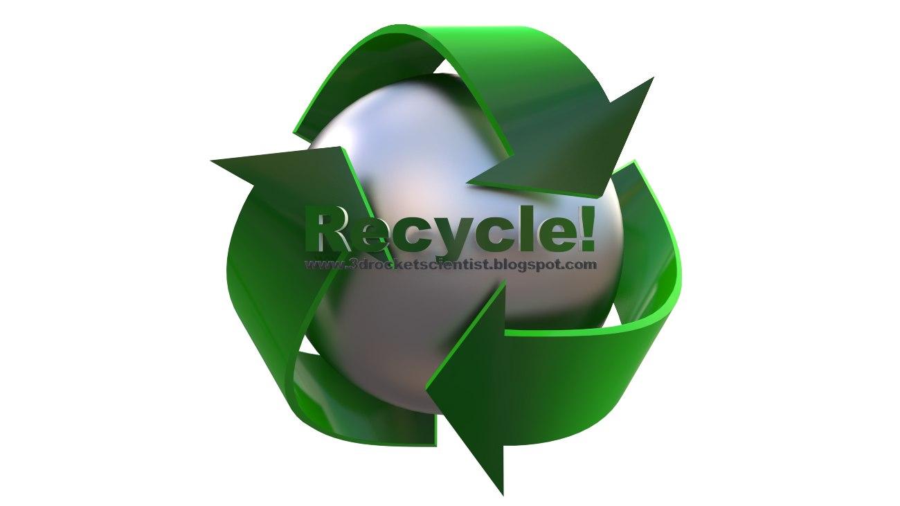 recycling logo 3d model