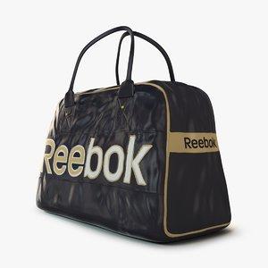 reebok logo sport bag 3d model