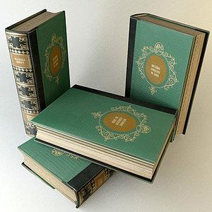 old book 3d model