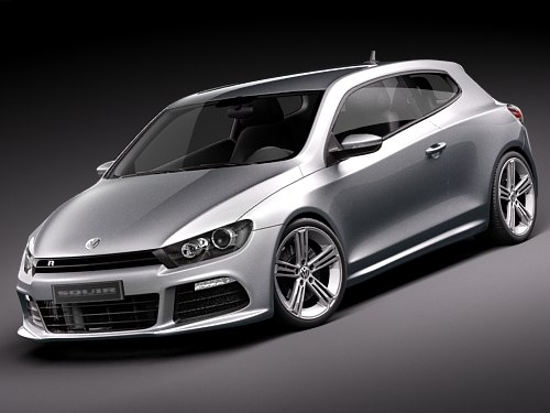 volkswagen scirocco r tuning 3d model. Black Bedroom Furniture Sets. Home Design Ideas