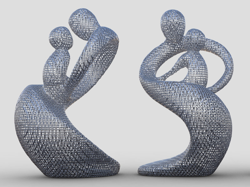 scan data sculptural lattice 3d model