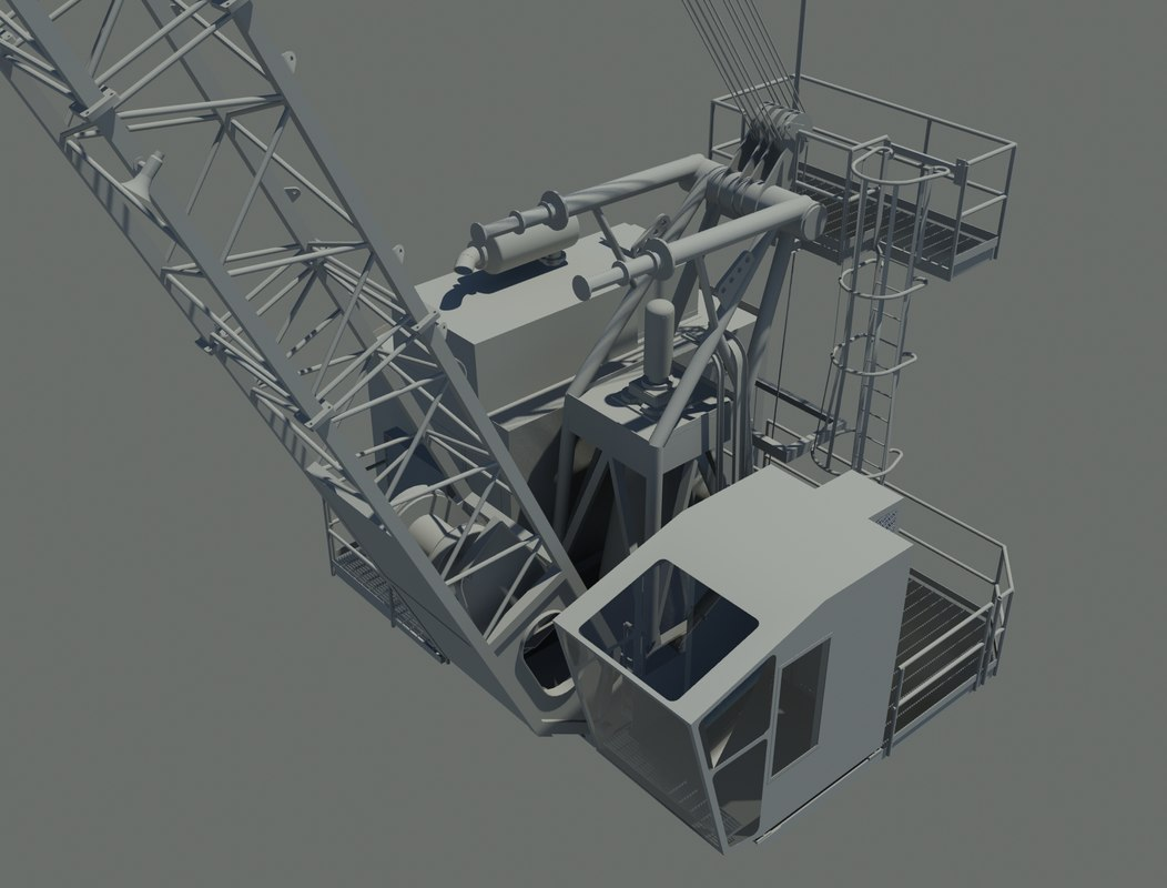 3d marine crane