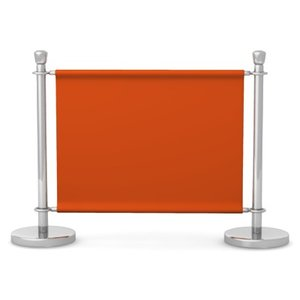 3d model stand barrier