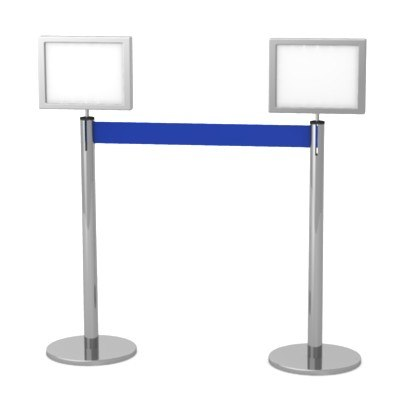 stand barrier 3d lwo