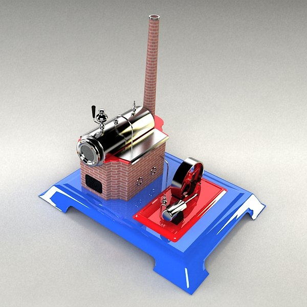toy steamengine 3d model