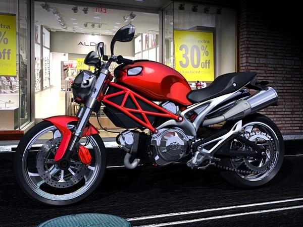 ducati monster 900 3d model