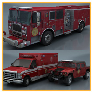 department vehicles 3d model