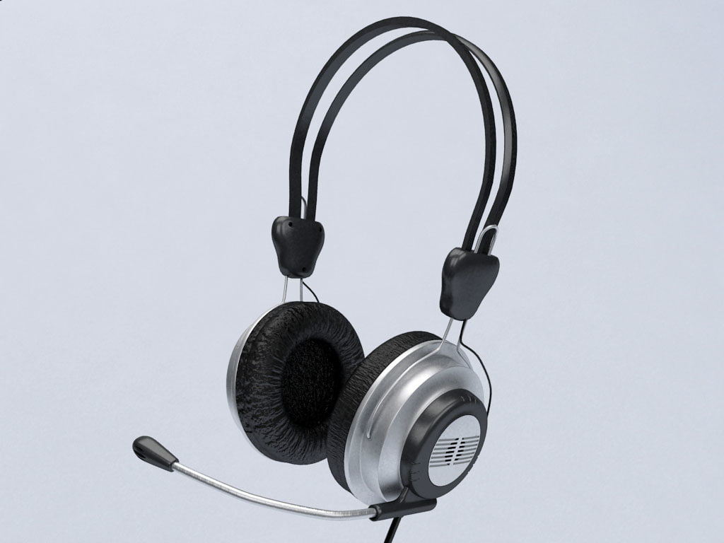 computer headset 3d model