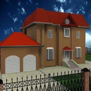 cottage exterior 3d model