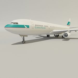 airbus cathay pacific 3d model