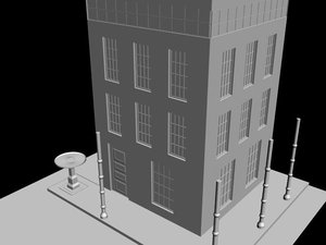 free architecture model 3d model