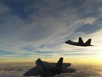 f22 raptor fighter jet 3d model