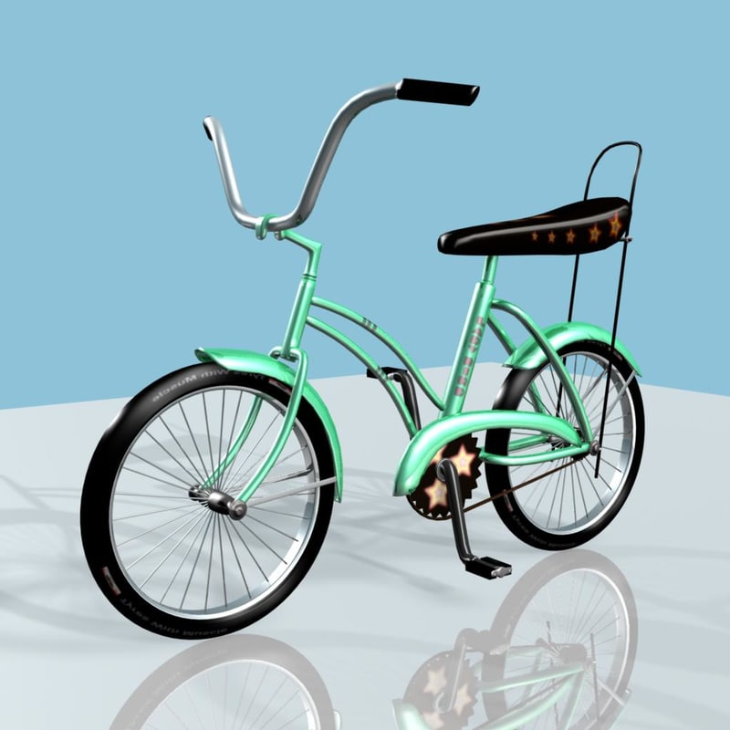 green bicycle 3d model