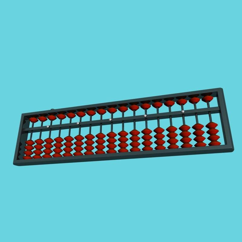 abacus soroban 3d model