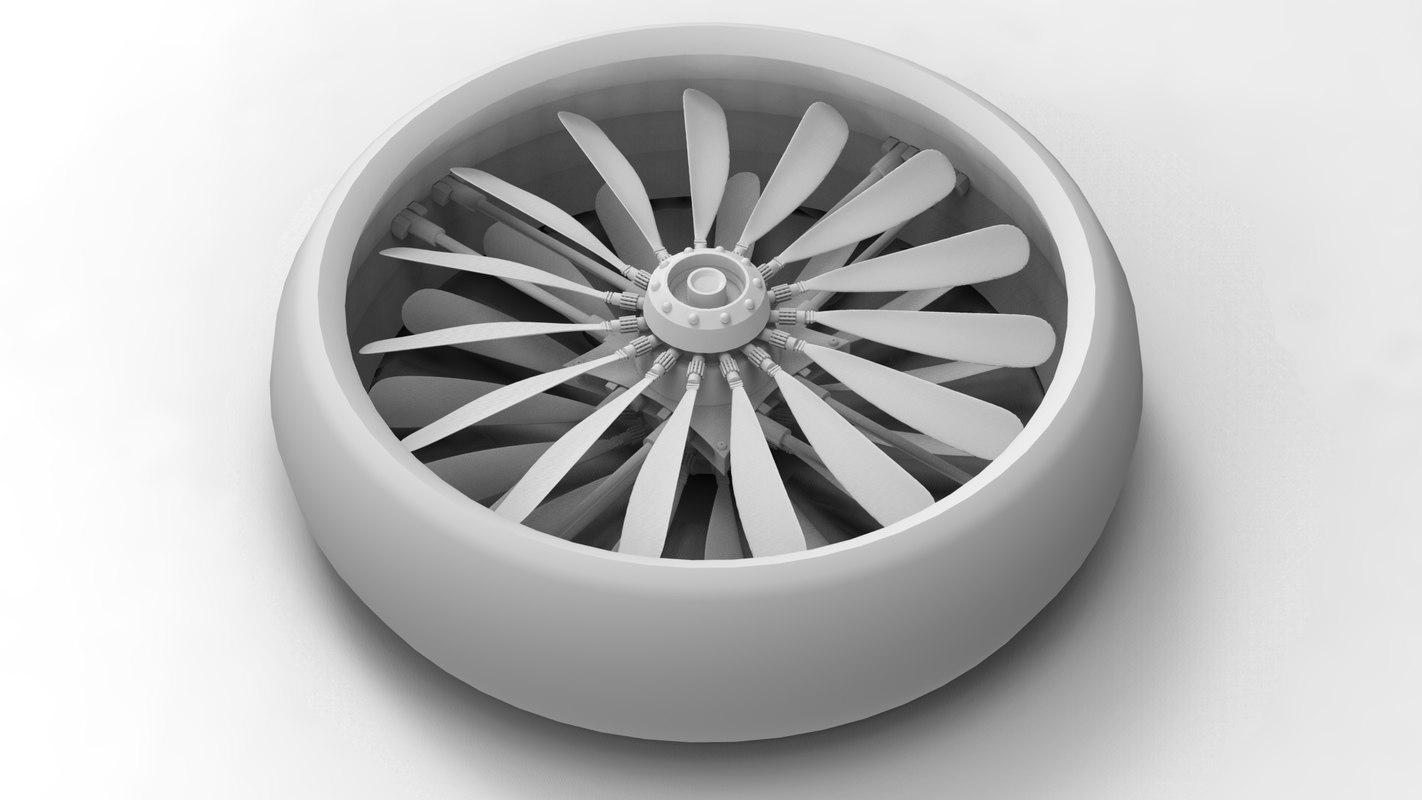 wind fan aircraft 3d model
