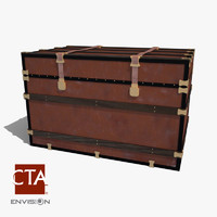 antique trunk 3d model