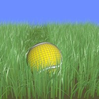 Tennis Ball + Grass Animated