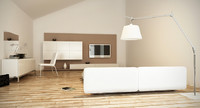 room bedroom bed 3d model