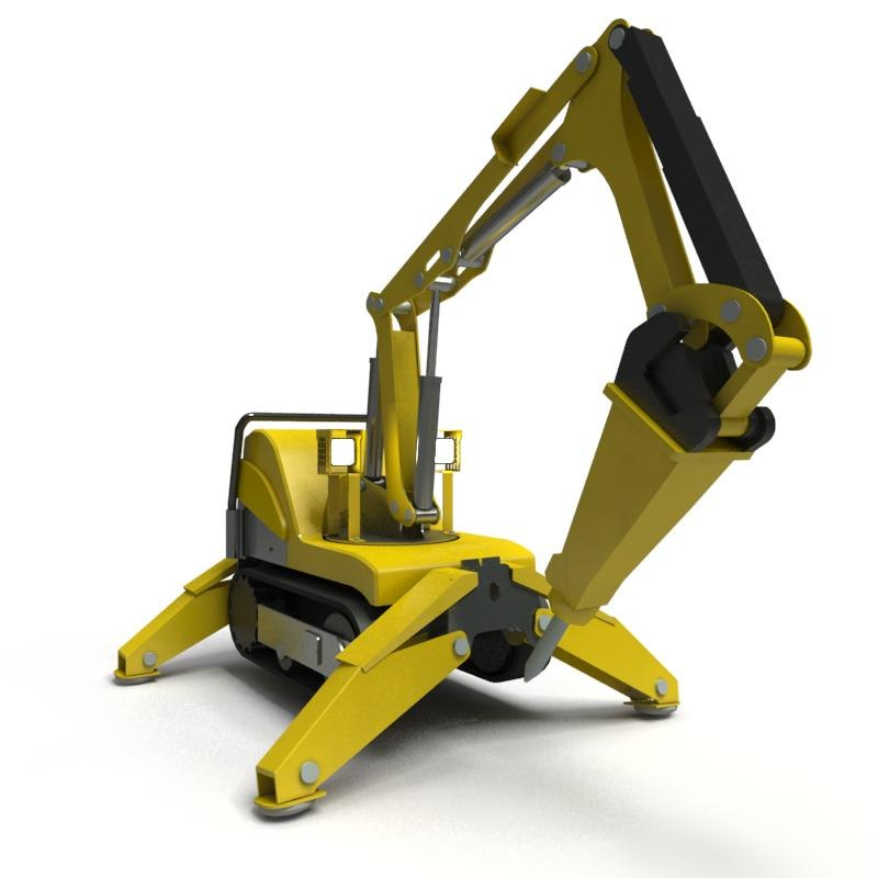 brokk modelled 3d model
