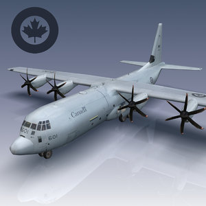 hercules canadian air force 3d model