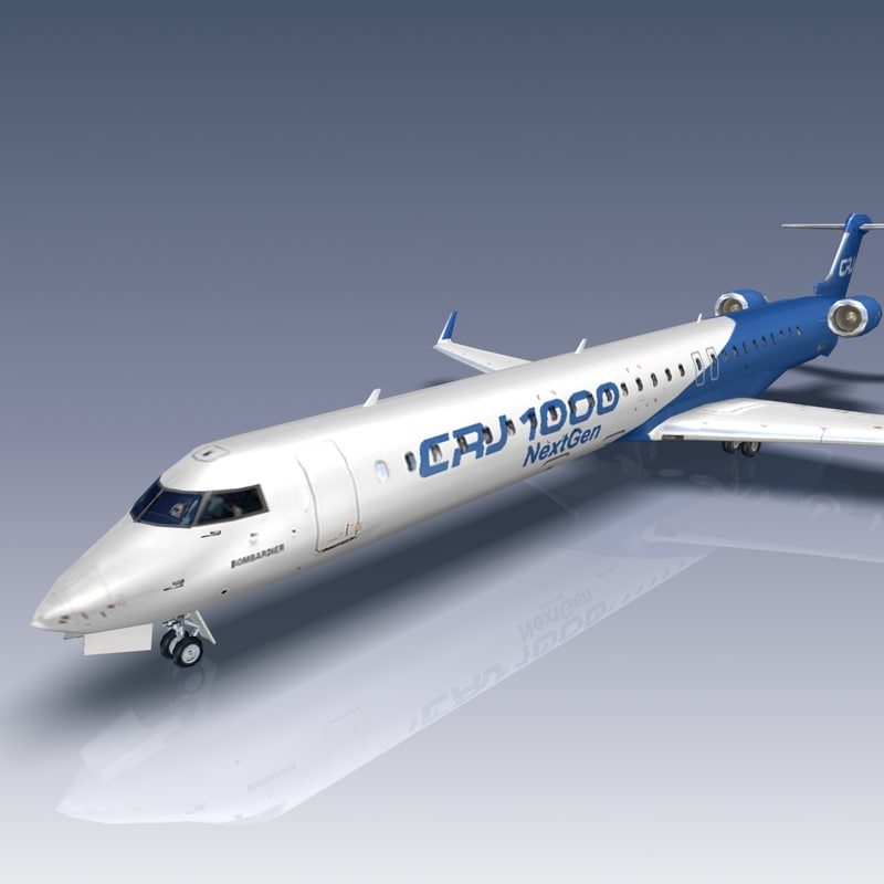 bombardier crj 1000 crj1000 3d model