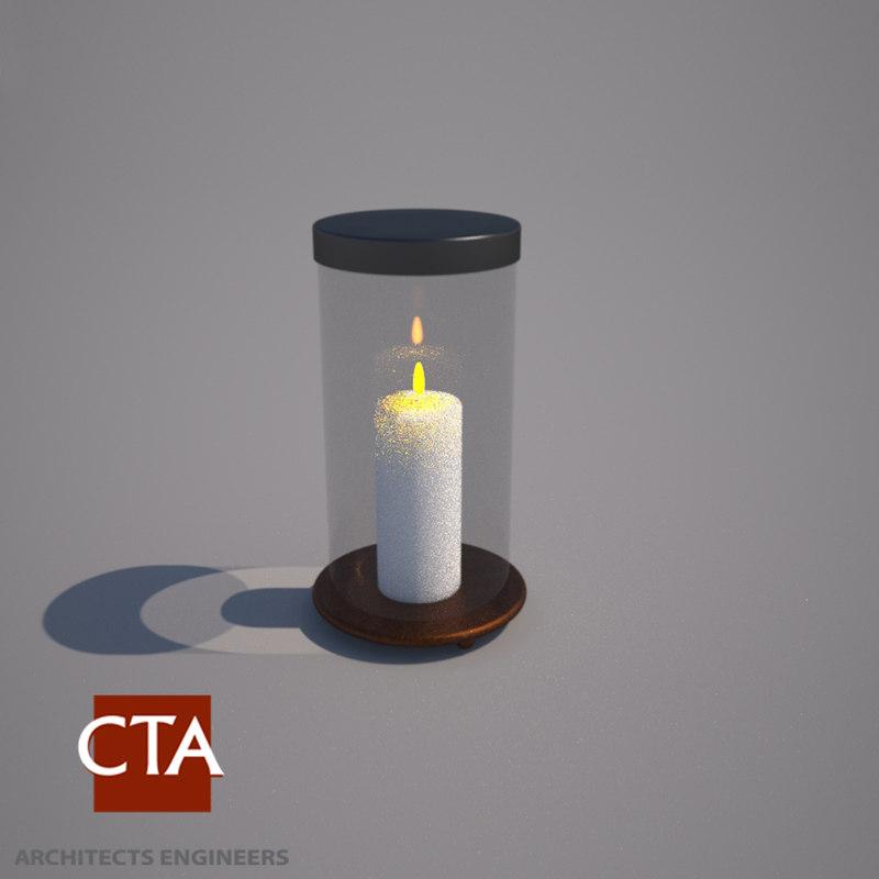 decorative candle holder 3d model