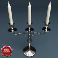 candlestick v2 3d model