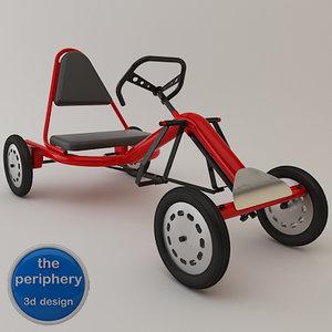 pedals karting tubular 3d model