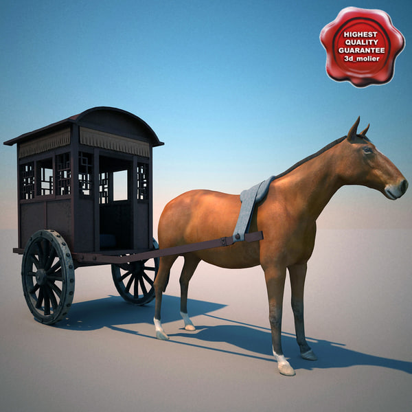 chinese horse carriage 3d model