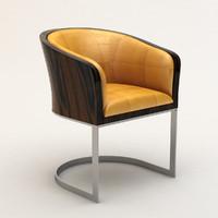 armani classic tub chair 3d model