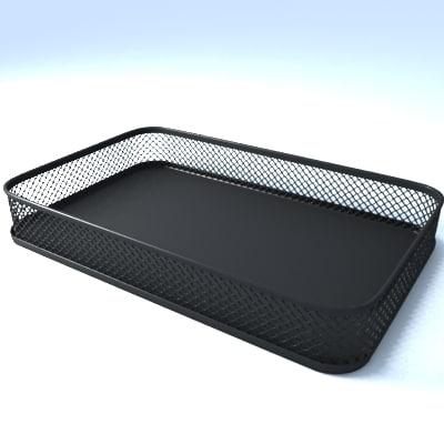 office supply clips mesh 3d model
