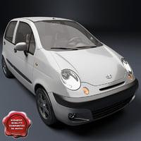 daewoo matiz 3d model