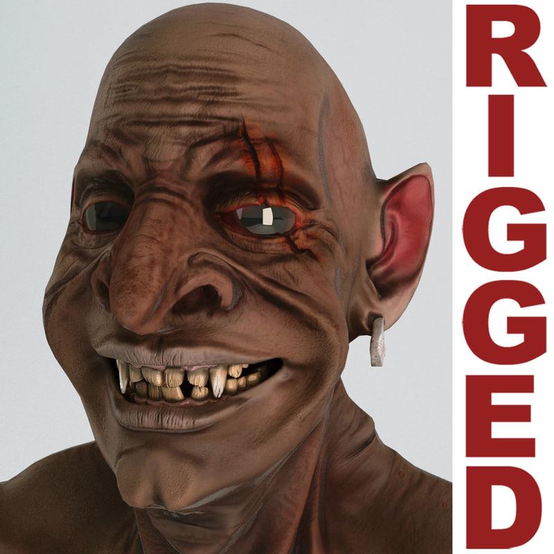 goblin rigged 3d model