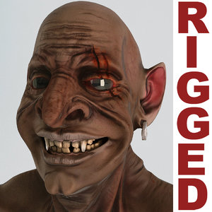 goblin rigged 3d model