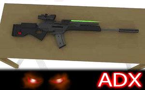 h k sl8 rifle 3d model