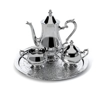 Hollowware Gadroon Silverplated Coffee Set by Reed & Barton