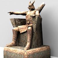 statue judge 3d model