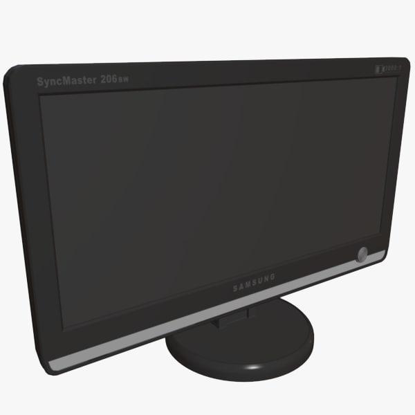 free desktop monitor 3d model