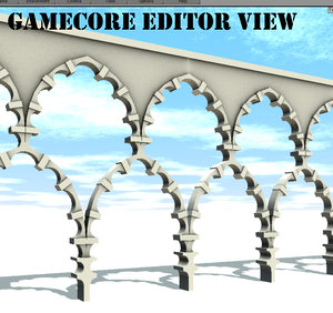 tileable arch architecture 3d model