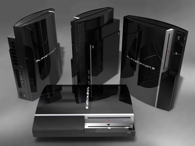 playstation 3 3d model